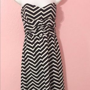 Black and white stripped maxi long dress